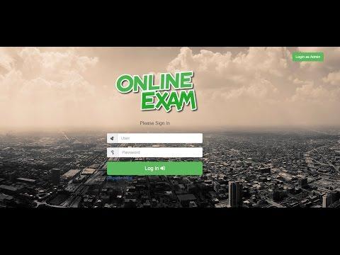 Online Exam System - YouTube