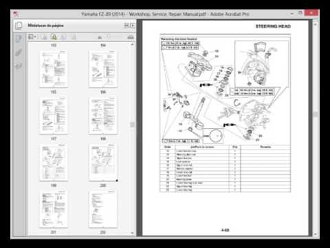 Yamaha FZ09 (2014)  Workshop, Service, Repair Manual