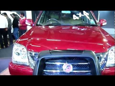 Force Motors Force One Red SUV 4x4 at Auto Expo 2012, New Delhi, India