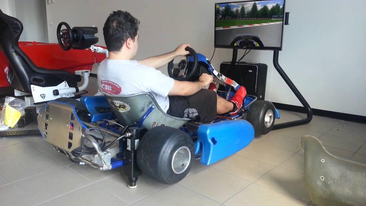 DEM Racing Simulators - Go Kart simulator - YouTube