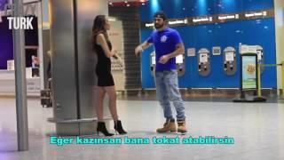 Havaalanında Öpüşme Cezalı Oyun! Türk Yapımı Türkçe Altyazılı
