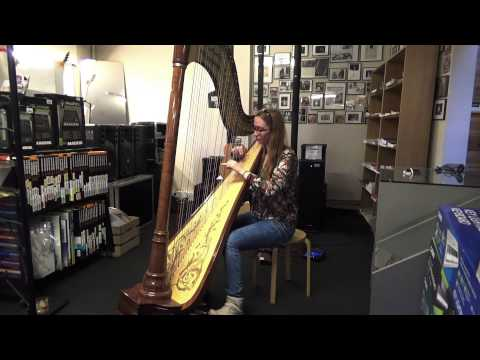 Zeuwts Anne playing the Harp @JnR Music Center