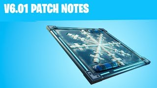 NEW CHILLER ICE TRAP IN FORTNITE v6.01 PATCH NOTES