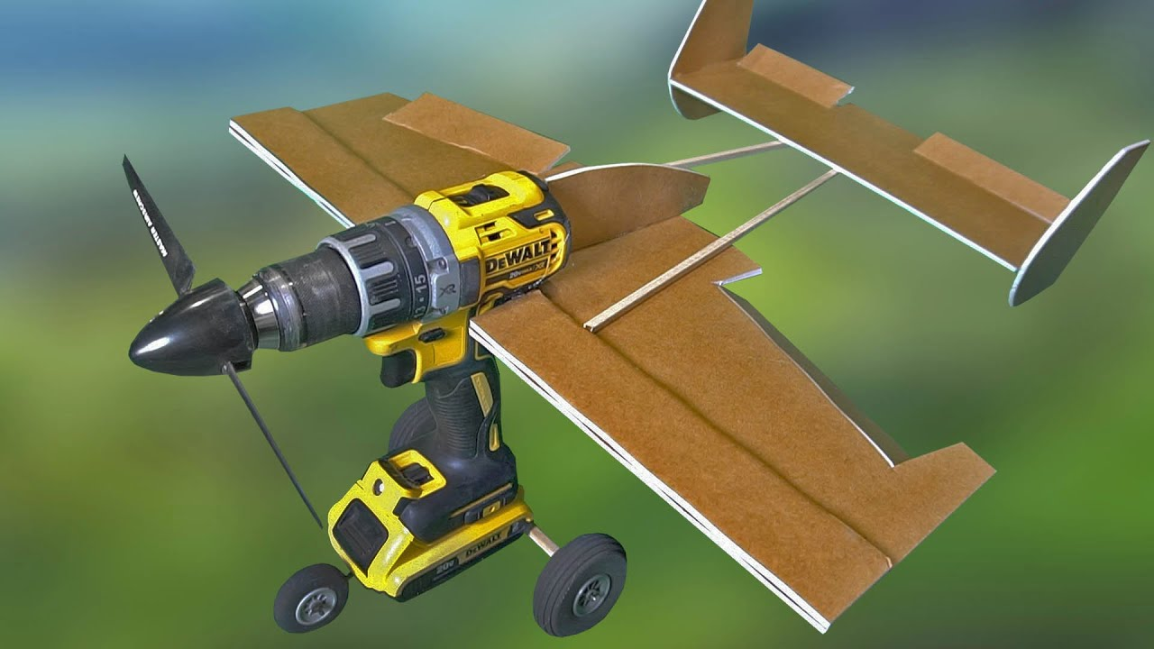 FLYING Powerdrill AIRPLANE!!!