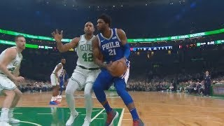Joel Embiid Gets Shuts Down By Al Horford Who Gets Standing Ovation! Celtics vs Sixers