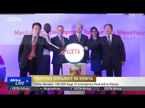 China donates 100,000 bags of emergency food aid to Kenya