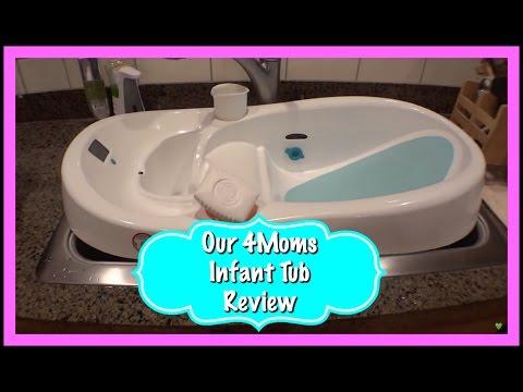 Baby Bathtub Review - 4Moms Infant Tub!