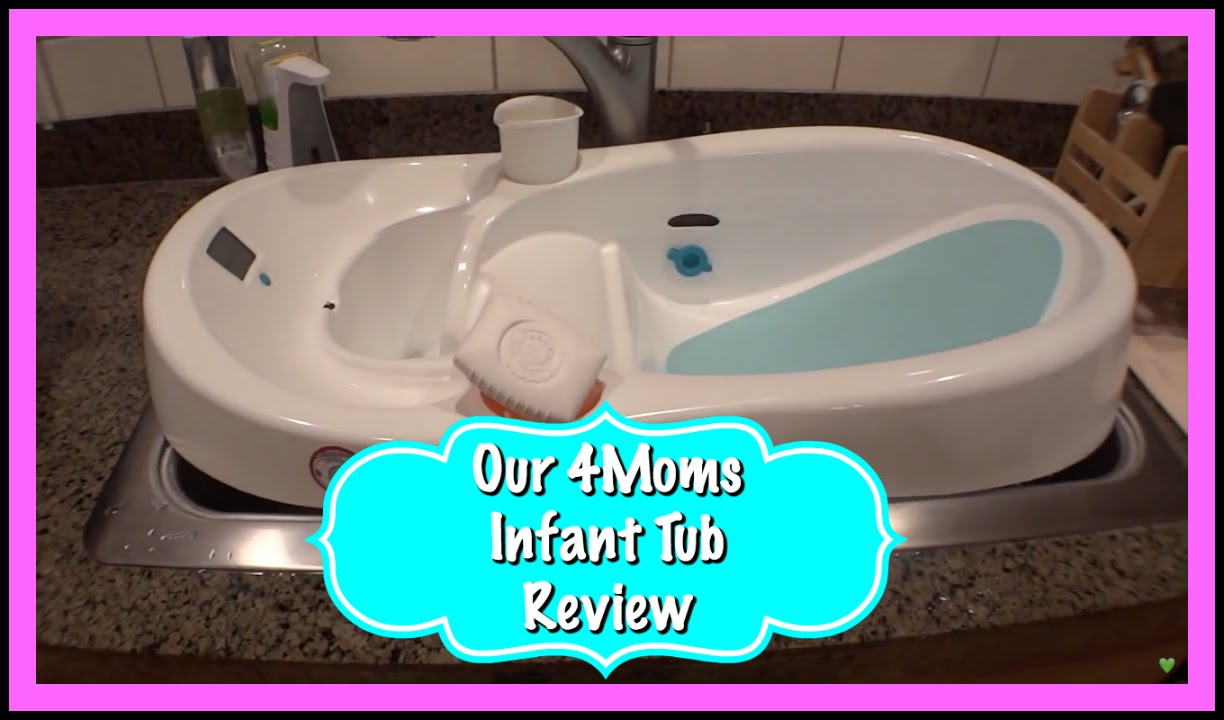 Great Baby Bathtub Review   4Moms Infant Tub!   YouTube