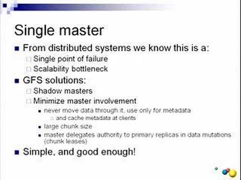Cluster Computing and MapReduce Lecture 3 - YouTube - google file system