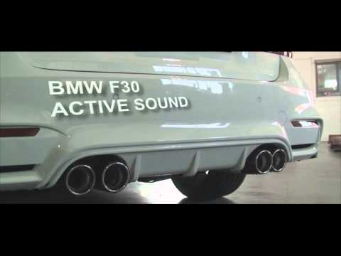 bmw 320 f30 active sound youtube