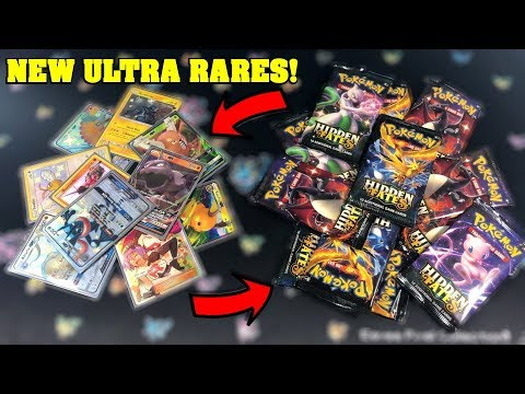 I turned this pile of *NEW* HIDDEN FATES Booster Packs into a HUGE PILE OF ULTRA RARE POKEMON CARDS!