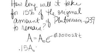 Plutonium 239 example