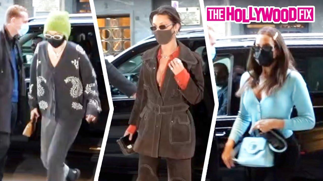 Gigi Hadid, Bella Hadid & Irina Shayk Stop By The Versace House Ahead Of Milan Fashion Week In Italy