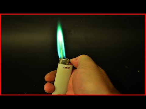 How to make a green flame lighter