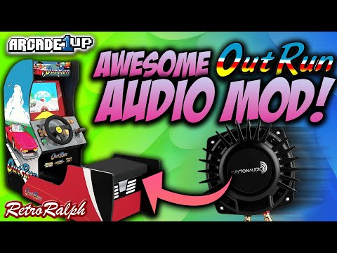 Awesome Arcade1up Outrun AUDIO MOD - FEEL THE ENGINE RUMBLE! from Retro Ralph