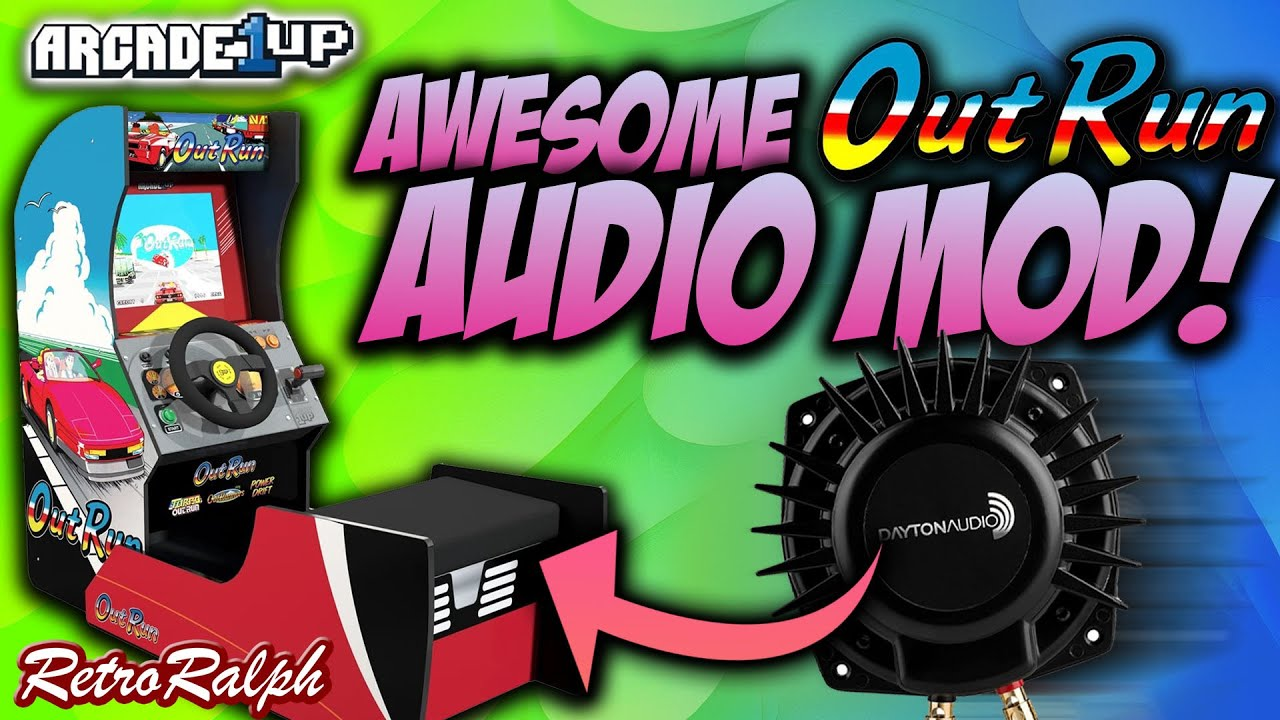 Awesome Arcade1up Outrun AUDIO MOD - FEEL THE ENGINE RUMBLE!