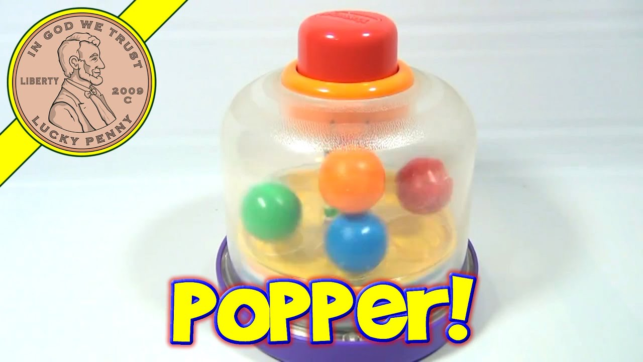 Playskool Push Down Spinning Ball Popper Baby Toy No 5141 1996