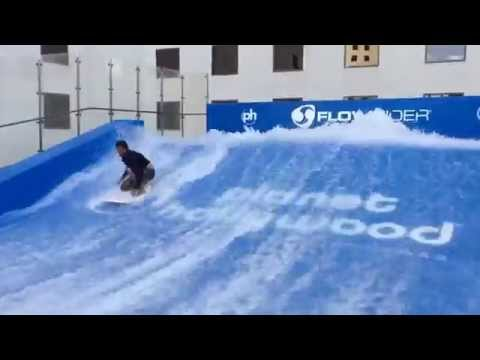 Flowrider Tricks At Planet Hollywood Las Vegas Resort's Pool 5-20-15