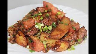 Оджахури или жареная картошка с мясом. Просто,вкусно и сытно!