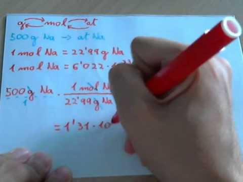 Paso de gramos a átomos Química - YouTube