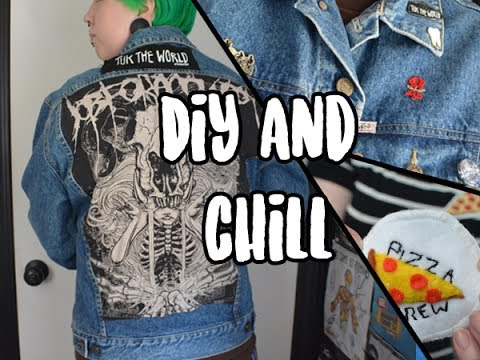 Create And Chill Diy Pizza Patch Custom Denim Jacket