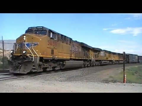 Union Pacific Mixed Freight Roars Around The Tehachapi Loop
