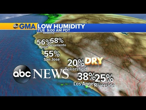 Latest details on path, destruction of California wildfires