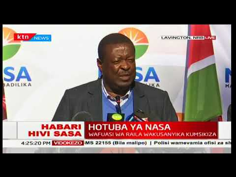 Musalia Mudavadi invites Raila Odinga to read the NASA statement