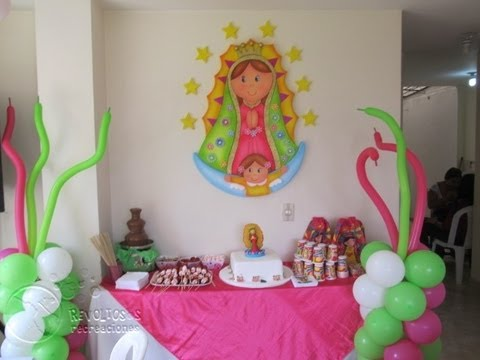 DECORACION VIRGEN DE GUADALUPE FIESTAS INFANTILES - YouTube