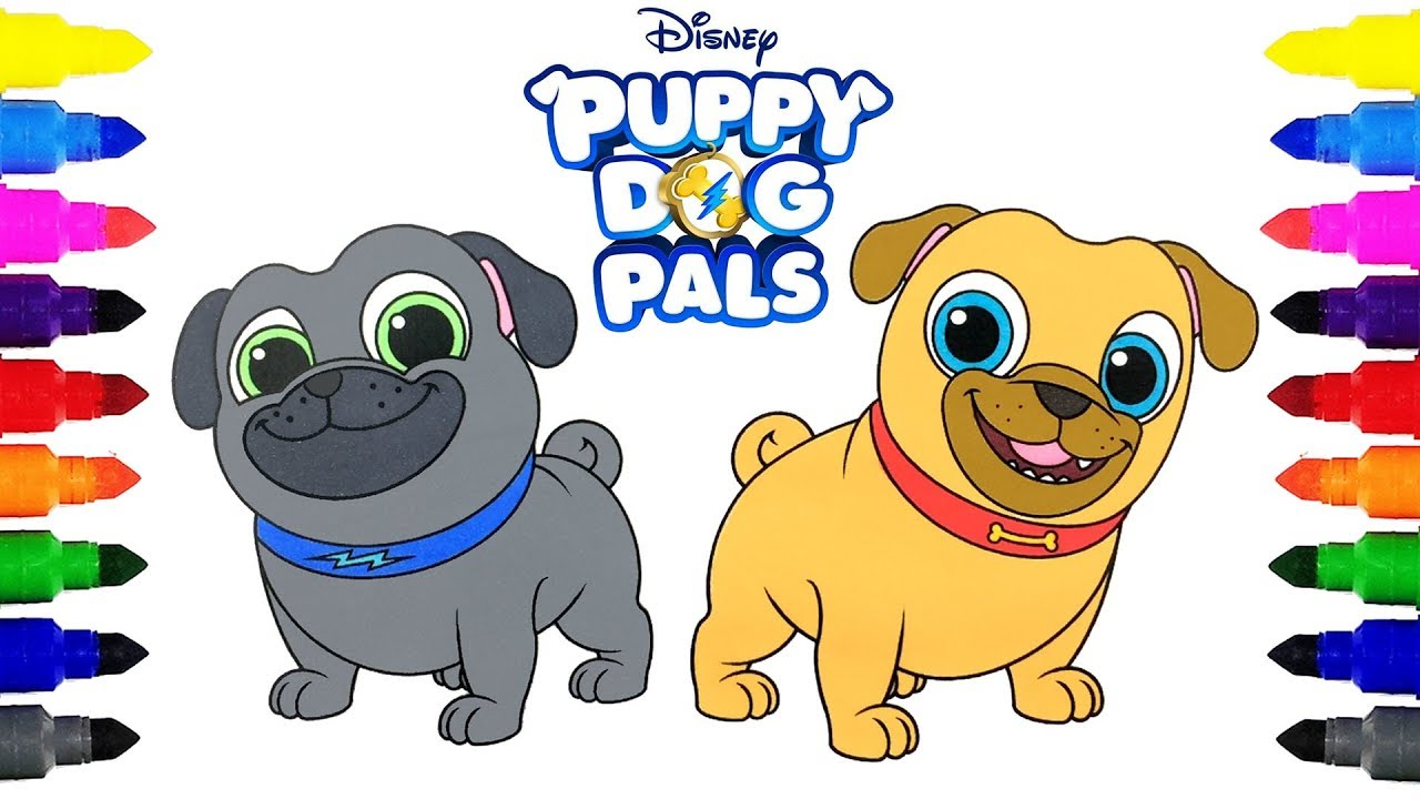 Puppy Dog Pals Bingo And Rolly Coloring Pages Coloring Disney