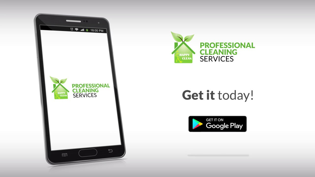 Professional Cleaning Service - Android mobile app by Happy Clean