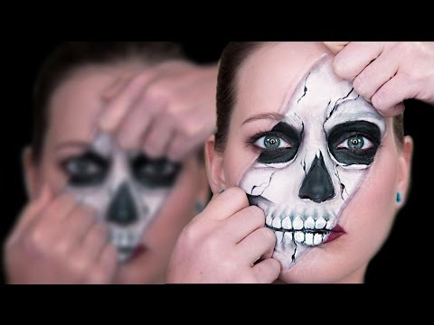 Ripped Skull Face Paint Tutorial