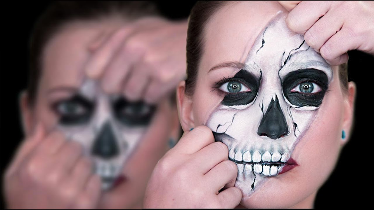 Easy Skull Face Paint Step By Step