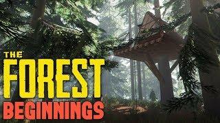 TheForest: строем дом на дереве!