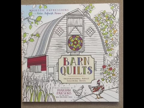 Barn Quilts - Inspirational Adult Coloring Book flip through - YouTube : barn quilts book - Adamdwight.com