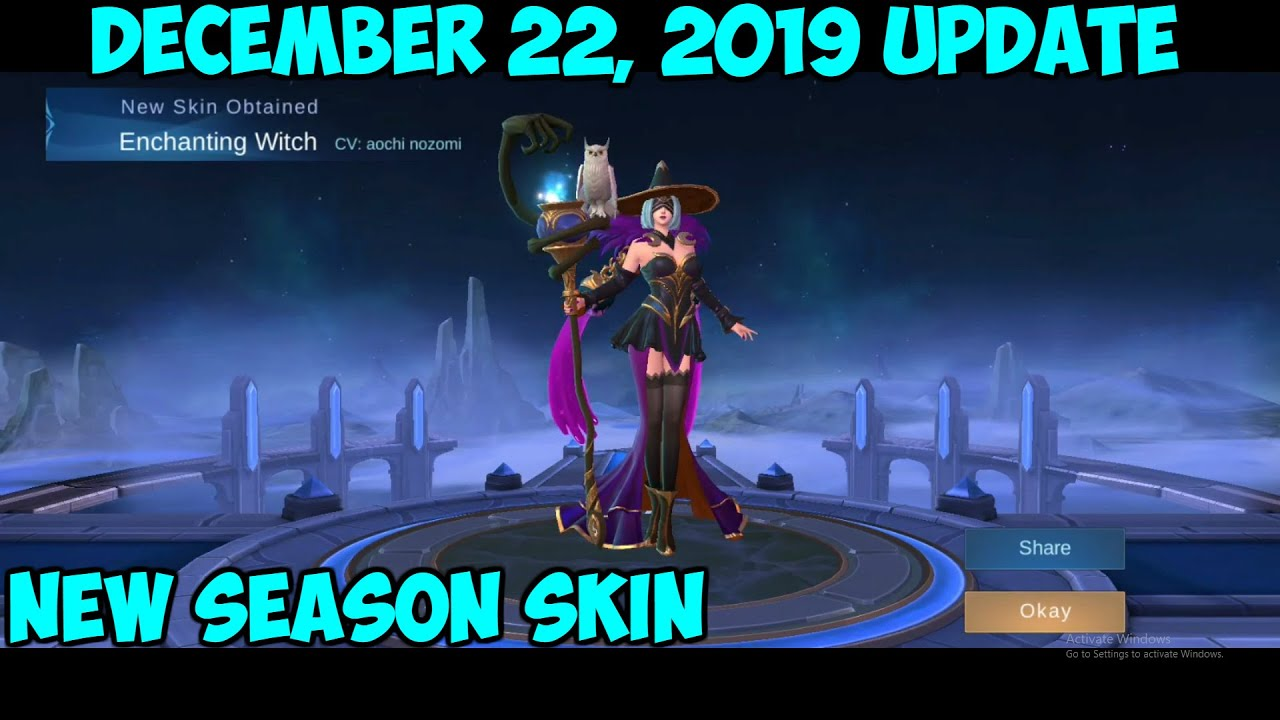 mobile legends new update december 22 2019! new free skin