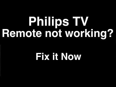 Philips Remote Control Not Working  -  Fix It Now