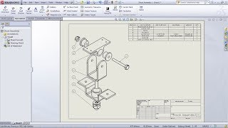 SolidWorks Exploded View Drawing Tutorial | SolidWorks Bill of Materials Tutorial | Balloon Drawing