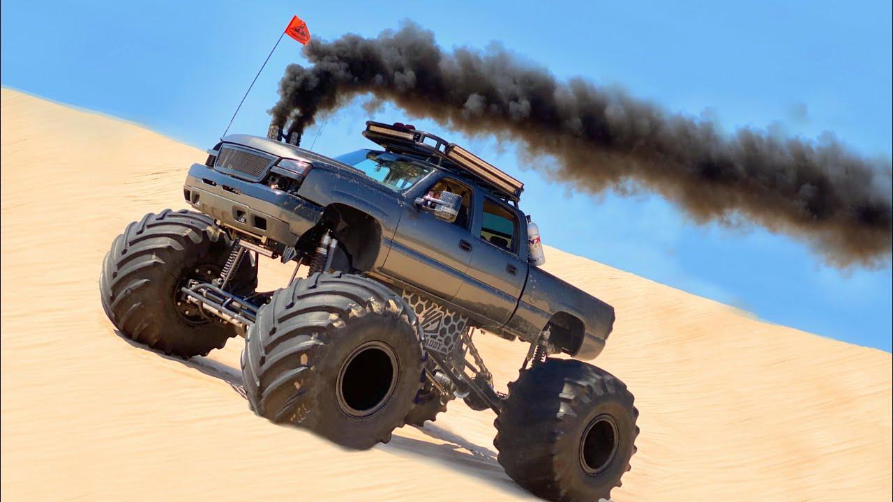 Monstermax Grenades Climbing a 200ft Dune