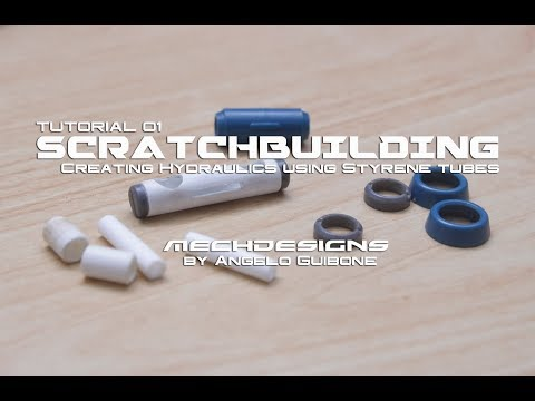 Scratchbuilding - Creating Hydraulics using Styrene tubes