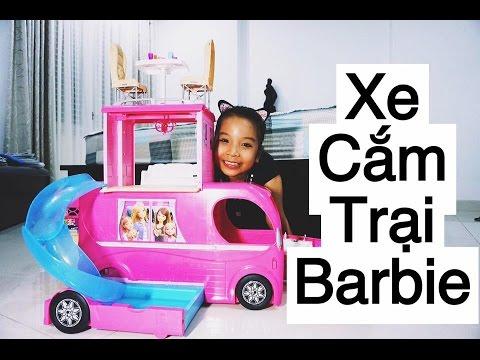 Song Thư Vlog: Khám phá XE CẮM TRẠI BARBIE - BARBIE POP-UP CAMPER REVIEW