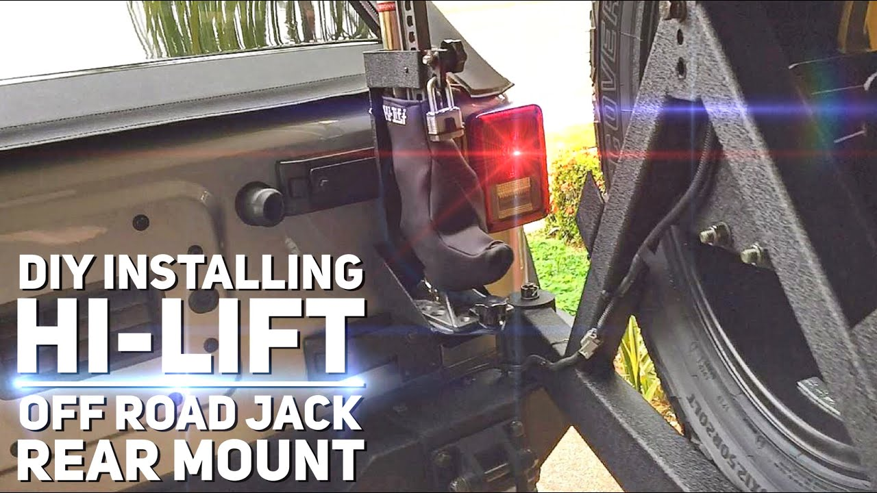 Hi Lift Jack Rear Mount Base Install Diy Hi Lift Step By