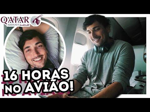 RICO! O QUE FAZER DENTRO DO AVIÃO? VOANDO DE DOHA À SÃO PAULO NA CLASSE EXECUTIVA - BOEING 777 QATAR