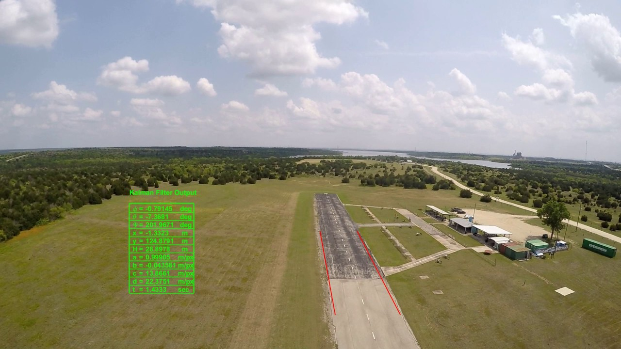3D Vision based model for runway tracking using Kalman Filter Video 2