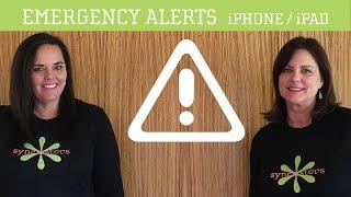 Emergency Alerts - iPhone / iPad