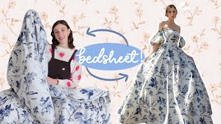DIY Prom Dress from a Sheet | Step By Step Tutorial