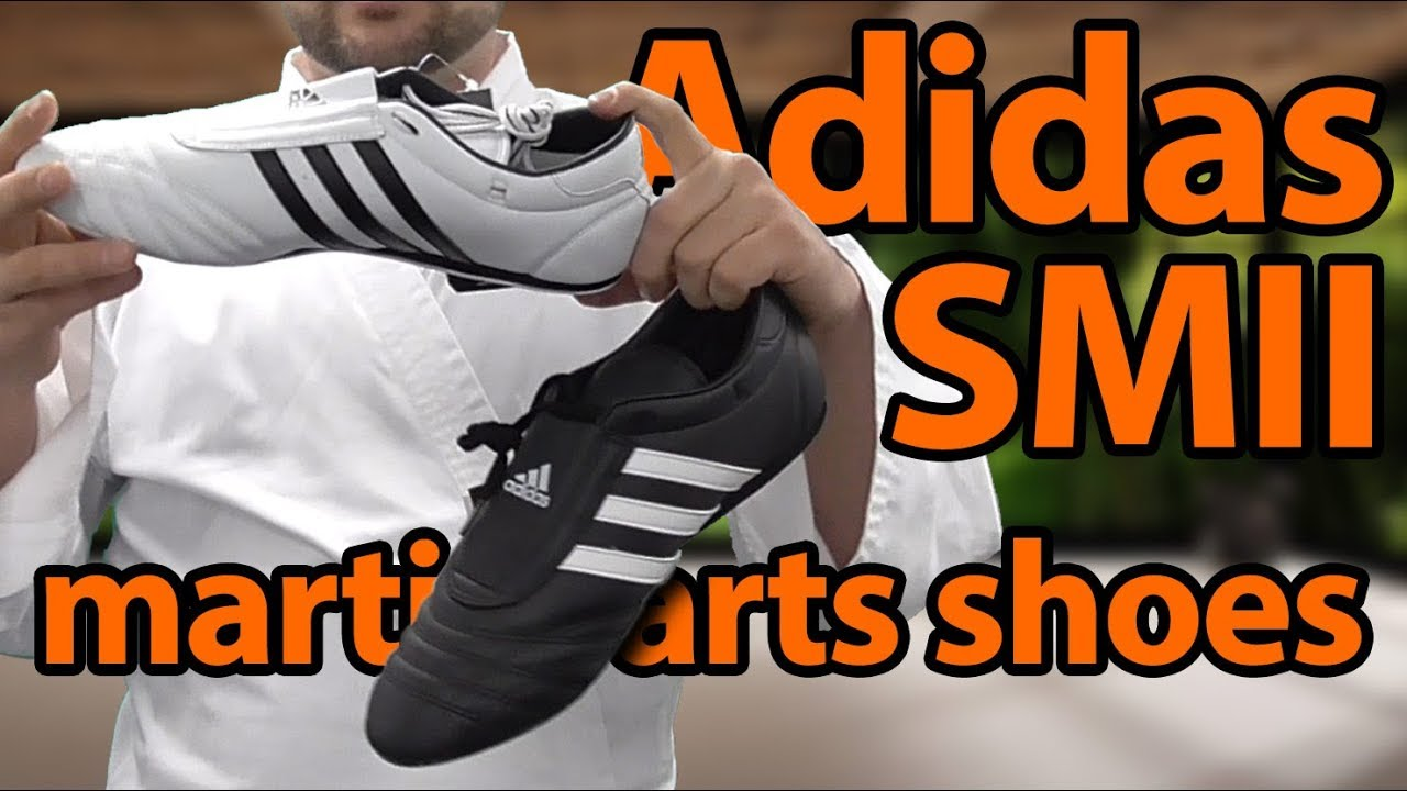 Adidas SMII Martial Arts Shoes - Unboxing and Review   KarateMart com