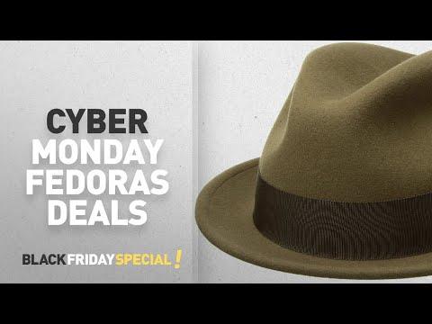 Top Cyber Monday Fedoras: Bailey of Hollywood Men's Tino, Kangaroo, L