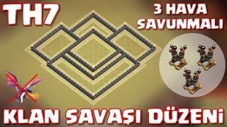 7.Seviye Köy Binası - En İyi 3 Hava Savunmalı Klan Savaşı Düzeni - Anti ejder - Clash of Clans