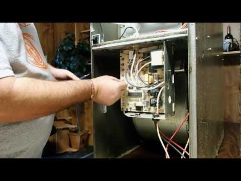 how to install a replacement ces0110057-xx series carrier furnace control  board mov - youtube